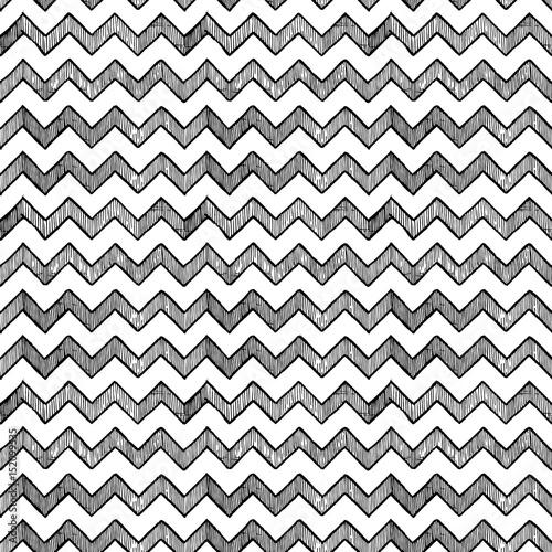 zigzag parallel lines Canvas Print