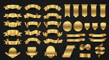 Wrapping Gold Banner Ribbons, ...