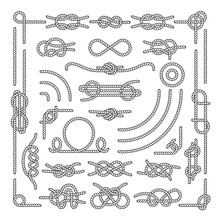 Nautical Rope Knots Vector Dec...