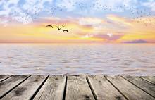 El Mar Con Colores De Tonos Pastel