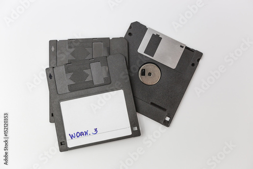 In de dag Retro Floppy Disk isolated on white background