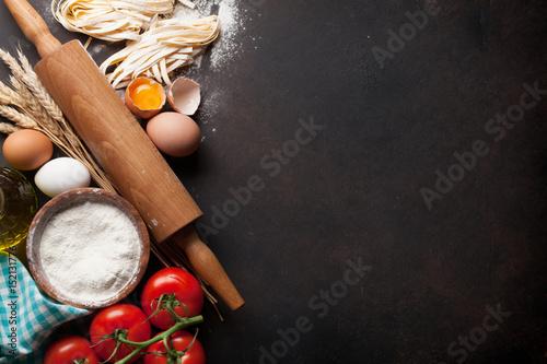 Foto op Plexiglas Koken Pasta cooking