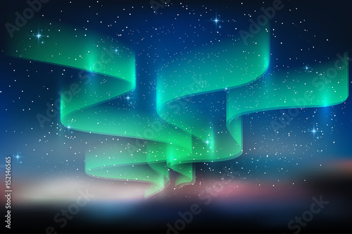 Photo  Aurora blue sky and a lot of star in form of milky way, astronomy background, Ve