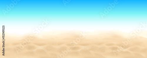 Beach sand and sky vector landscape background