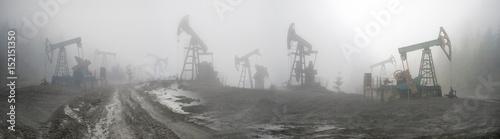 Fototapeta Oil pumps in the mountains obraz