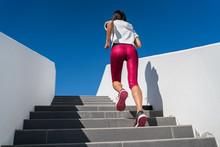 Stairs Climbing Running Woman ...