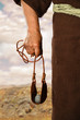 canvas print picture - Hand of David Holding Slingshot