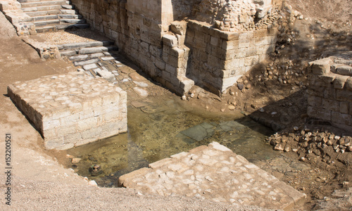 Jordan River Baptismal Site of Jesus Christ at Bethany Canvas Print
