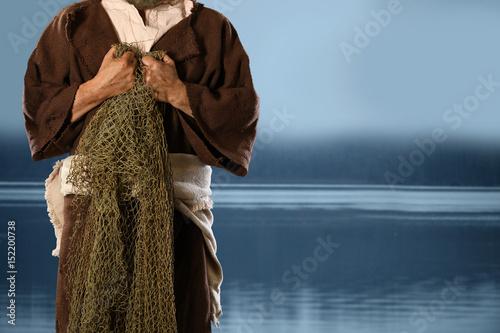 Fotomural Aplostle Fisherman Holding Nets