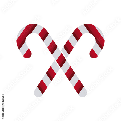 white and red stick candy sweet xmas crossed vector illustration ...