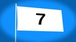 the flag of 7 (seven)
