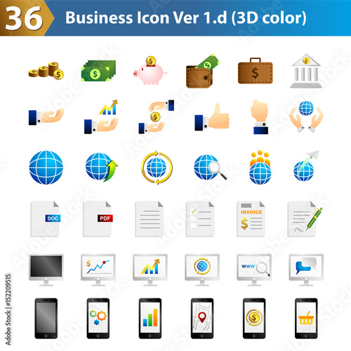 36 Business icon 3D color - Buy this stock vector and explore