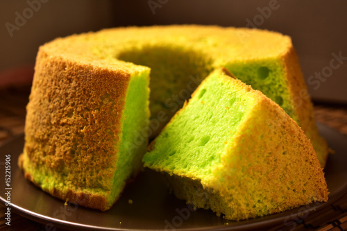 Fotografie, Obraz  Light and Fluffy Pandan Chiffon Cake