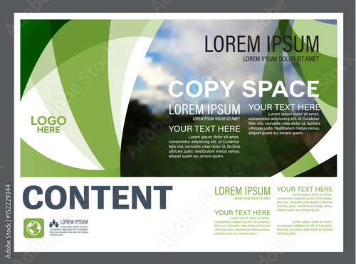 Presentation Layout Design Template Annual Report Cover