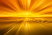 Gold Sunburst Abstract Background