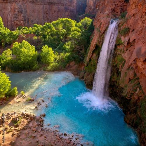 Fototapeten Wasserfalle Havasu Falls Havasupai Arizona