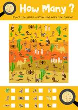 Counting Game Of Desert Animal...
