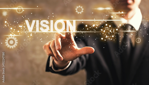 Valokuva  Vision text with businessman