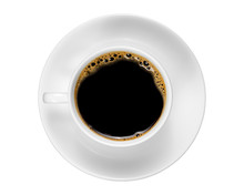 Top View Of A White Coffee Cup...