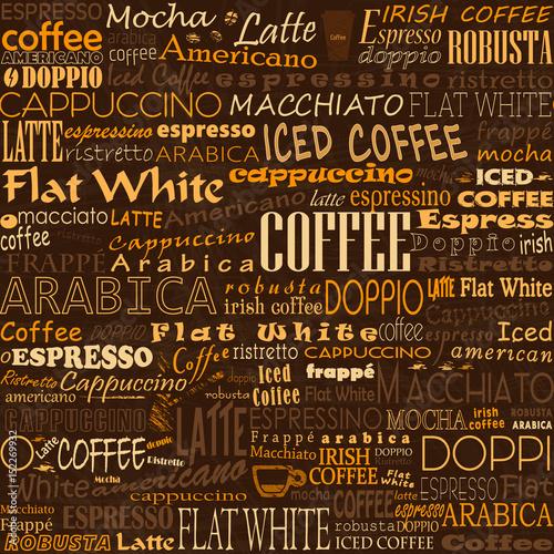 Kawa słów bezszwowe tło