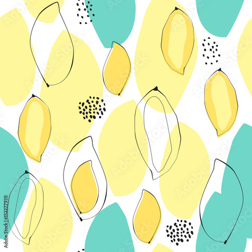 Abstract mango seamless background. A beautiful concept for wrapping and fabric. Summer mood - 152277938