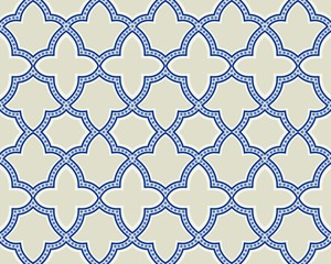 FototapetaIslamic geometric seamless pattern, background in shades of blue, indigo