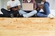 canvas print picture - Teamwork concept. Coworking process.