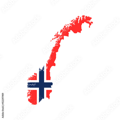 Norway map Tablou Canvas