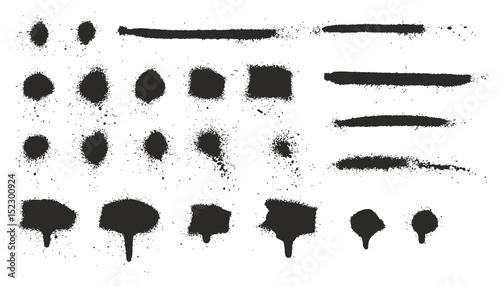 Valokuva Super Skinny Spray Paint Drips, Dots, Lines and Splatter Set 06