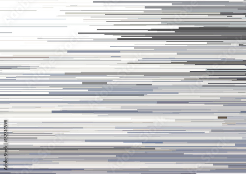 Fotografiet  Abstract background with glitched horizontal stripes, stream lines