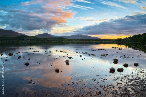 Loch Morlich at Sunset Canvas Print