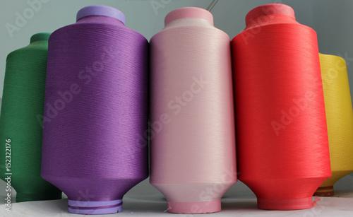 Fényképezés  color elastic thread in the production of knitwear