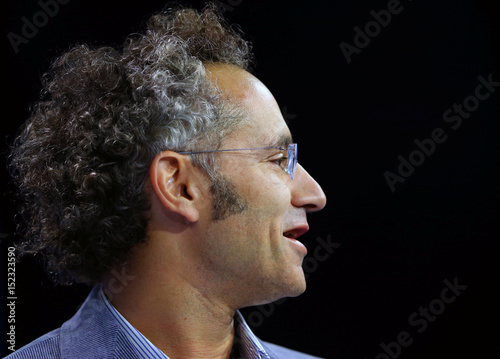 Alex Karp co-founder and CEO of Palantir Technologies speaks at the
