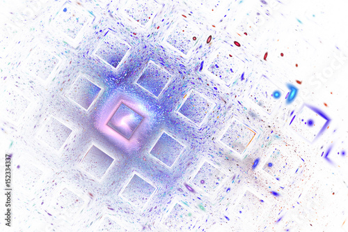 Abstract Geometric Texture With Blue Red And Violet