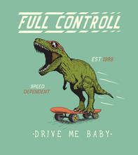 Cheerful Tyrannosaur Rides On ...