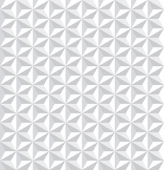 NaklejkaSeamless white 3d pattern. Geometric texture.
