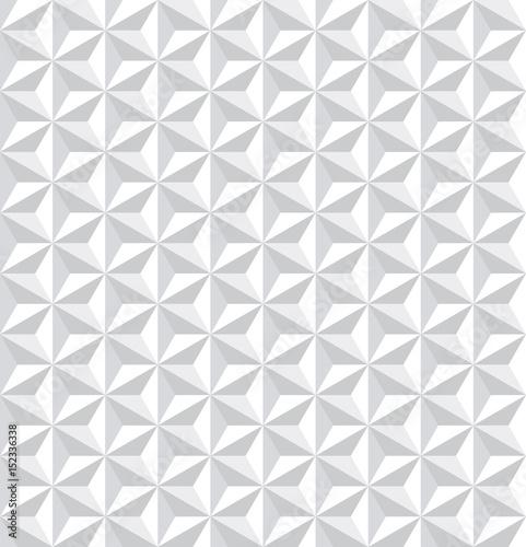 Seamless white 3d pattern. Geometric texture. Wallpaper Mural