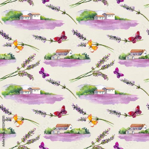 lawendowe-pole-kwiaty-lawendy-motyle-z-wiejskich-domow-prowansalskich-w-prowansji-francja-akwarela