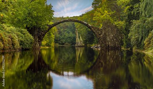 Fototapeta most w kształcie łuku w Saksonii, Niemcy