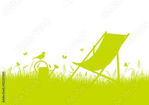 Canvas Print Summer Meadow Canvas Chair Banner
