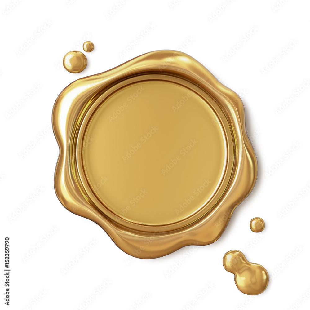 Fototapety, obrazy: Golden wax seal