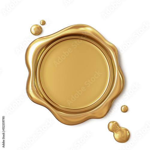 Golden wax seal Canvas Print
