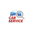 Vector logo template for car service, car wash or site auto sales. Car repair icon isoleted on white background.