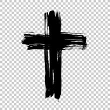 Hand Drawn Cross. Grunge Cross...