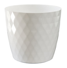 White Flowerpot Isolated On Wh...