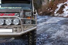 Bumper Of A Jeep Near Mountain...