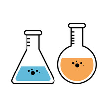 Erlenmeyer And Florence Flasks...