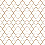 Flat outline moroccan seamless pattern vector - 152395328
