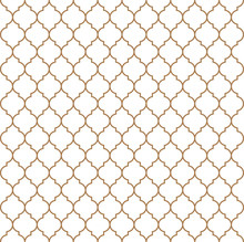 Flat Outline Moroccan Seamless...