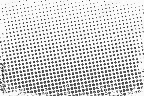 Poster Pop Art Halftone dots. Monochrome vector texture background for prepress, DTP, comics, poster. Pop art style template